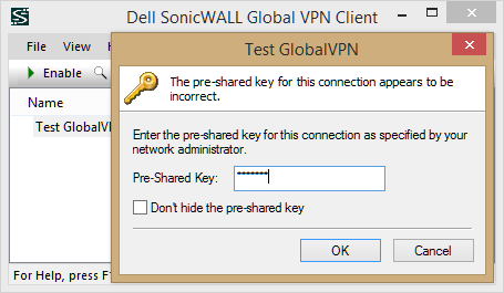 Incorrect Psk Provided for Network SSID
